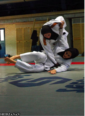 Iranian women karate players.