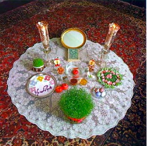 Nowrouz (the Iranian New Year celebration) Haftsin (click on the Nowrouz link above for more details).