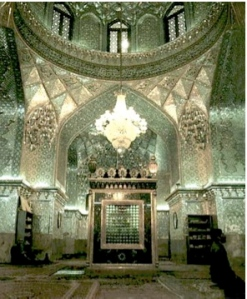Shah Cheragh in Shiraz, Iran (see below for a link to many more beautiful pictures of gardens and palaces in Shiraz).