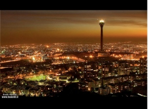 Tehran at night.
