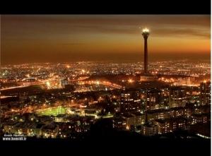 Tehran at night.
