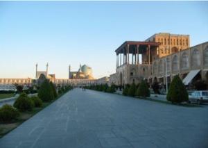 Naqshe Jahan Square in the historic city of Isfahan.