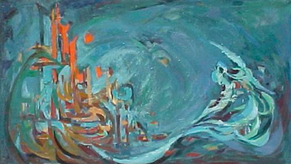 A beautiful painting by Mansoureh Husseini (click the link below for more paintings by her and also Elham Nafisi Far).