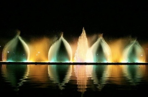 Another beautiful picture from the recent water and light art show in Tehran's Parke Mellat. Please see the link to the left for more photos from the event.