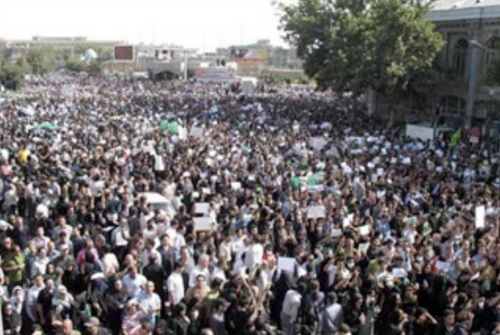 Another picture from the massive June 18th protests in Tehran.