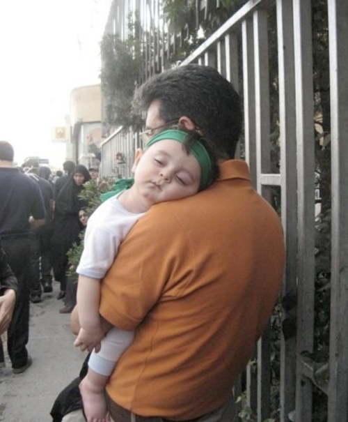 The first image of the day: Hot from Iran, a photo of one of the most dangerous supporters of