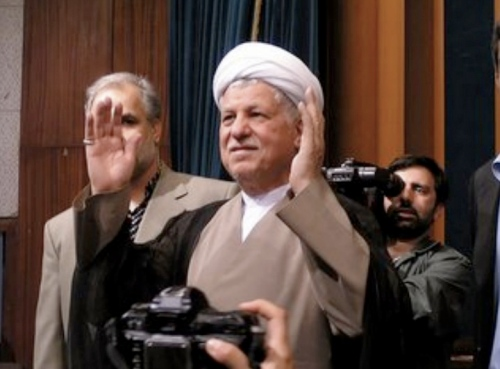 "Hashemi Rafsanjani delivered big time today for the Green Movement. After his sermon today, the crowd chanted: ""Hashemi, May God Protect You!"""