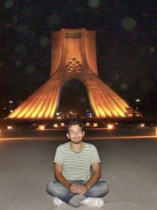 Sohrab A'araabi in Azadi Square....Remember his smile.