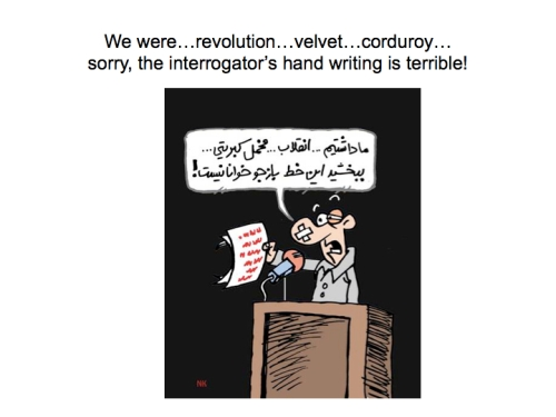 iran velvet revolution cartoon